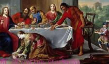 """Art Repro oil painting:""""Christ In House Of Simon Pharisee at canvas"""" 48x72 Inch"""