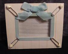 "Vintage Russ Berrie Baby Boy Photo Frame Handpainted 3.5"" X 5"" Photo"