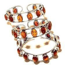 Amber Free Shipping Bangel Cuff Silver Overlay Gemstone Fashion Jewellery 3pcs