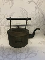antique/vintage Copper Kettle/teapot Wooden Handle/Marked/collectible