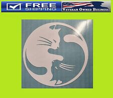 CAT YIN YANG DECAL STICKER VINYL WINDOW BUMPER Rescue Kitten Love Adopt Cute Pet