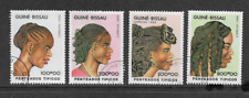 GUINEA BISSAU POSTAL ISSUE - SET OF 4 USED COMMEMORATIVE STAMPS 1989 HAIRSTYLES