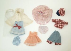 """Vintage 1950's Kellogg's Cereal Premium 8"""" Doll Clothes Outfits Lot"""