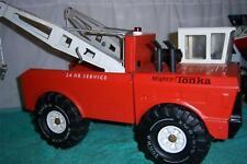 """Tonka Mighty Wrecker Truck 1974 # 3915 Press Steel Fully Working Truck 18 """" Long"""