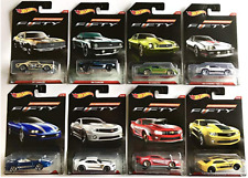 Hot Wheels Camaro Fifty Car Set- Set of 8 plus Nozlen Toys Clear Protector Cases