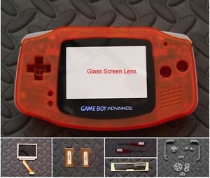 GameBoy Advance Backlight Backlit Adapt AGS101 Mod Kit w/glass lens-Clear Orange
