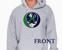 Grateful dead inspired Fighting Irish parody hoodie.