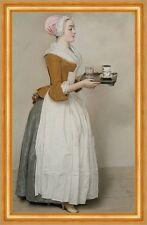 Das Schokoladenmädchen Jean-Etienne Liotard Dienstmädchen Kakao B A3 02515