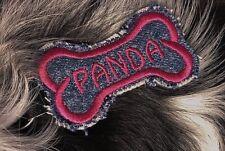 Dog Name Tag - Key Chain Custom Embroidered