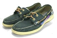 Sperry Top-siders Plaid Bluefish $90 Women's Boat Shoes Size 9 Blue Leather