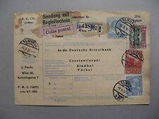 AUSTRIA, uprated prestamped parcelpostcard to Turkey 1916