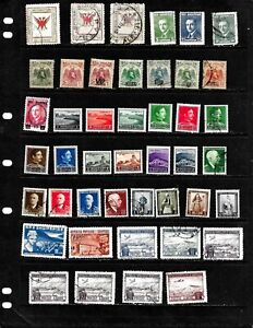 ALBANIA: NICE 'VINTAGE' STAMP COLLECTION DISPLAYED ON 3 SHEETS  SEE SCANS