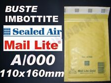 600 BUSTE IMBOTTITE MAIL LITE GOLD A/000 UTILE 11x16cm