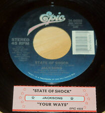 Jacksons Mick Jagger 45 State Of Shock / Your Ways