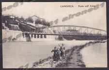 BERGAMO CANONICA D'ADDA 01 PONTE Fiume ADDA Cartolina viaggiata 1917