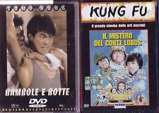 2 DVD FILM ARTI MARZIALI JACKIE CHAN-BAMBOLE E BOTTE/IL MISTERO DEL CONTE LOBOS