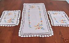 NEW Hand Embroidery Lace Doily Doilies Runner SET 3 - L