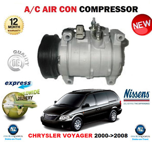 FOR CHRYSLER VOYAGER 2.5 2.8 CRD AIR CON COMPRESSOR 2000->2008 RG RS EO QUALITY