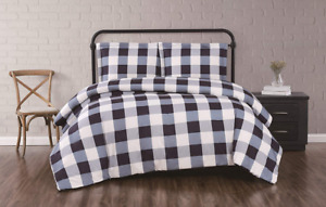 Truly Soft Everyday Full/Queen Duvet/Sham Set - Buffalo Plaid Collection - Navy