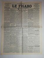 N1040 La Une Du Journal Le Figaro 25 juillet 1923  pacte traité de Lausanne