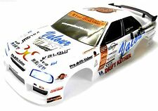 12330-W 1/10 Escala Drift Touring Car Body Cubierta Armazón RC Blanco Corte w Lights