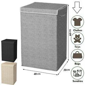 Folding Laundry Hamper Washing Cloth Basket Storage Box With Lid