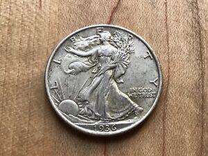 1936 Walking Liberty Half Dollar Must See Nice higher circulated example
