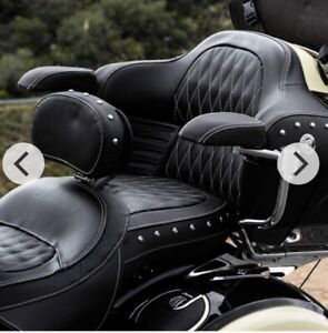 CLOSEOUT! New Indian Roadmaster Passenger Leather Armrest Pads