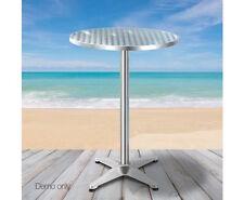 Adjustable Aluminium Garden Round Outdoor Indoor Cafe Bar Pub Kitchen Table