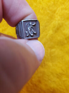 1940's DISNEY INGERSOLL PLUTO ~ STERLING SILVER ~ TOY NOVELTY PREMIUM RING #2