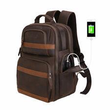 Tiding Full Grain Leather Sling Bag Convertible Backpack Shoulder Bag Outdoor Travel Office Chest Daypack