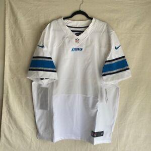 Detroit Lions Nike Jersey White Blue NFL Pro Football On field Apparel Sz 44 (E