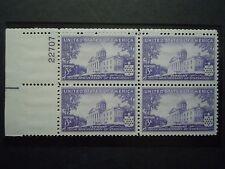 "1941 #903 3c Vermont Statehood 50th Ann.Plate Block MNH OG F/VF ""Includes Mount"""