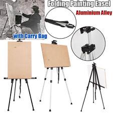 Portable Aluminium Alloy Folding Painting Easel Adjustable Display Tripod+Bag Us