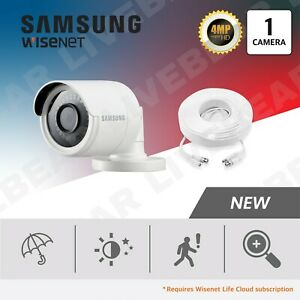 Samsung Wisenet SDC-89440BB 4MP Weatherproof Bullet Camera + 60ft BNC Cable