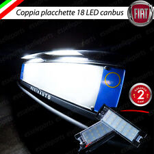 PLACCHETTE A LED LUCI TARGA 18 LED SPECIFICHE FIAT 500L 6000K NO ERROR