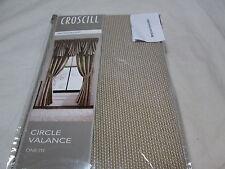 "New Croscill Montrose Circle Window Valance 42""x21"" ~ Beige Sand Nip"