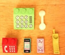 LEGO Minifig PHONE LOT! Cell Smartphone Cordless City Friends Scala Vintage RARE