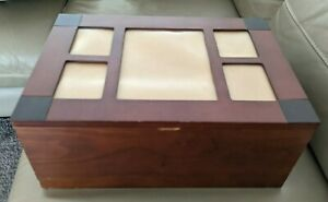 Wooden photo hinged chest box 384 photos - treasure those memorable moments