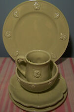 Enesco Green Country Gate 5 Piece Dinnerware Plates Bowl and Cup