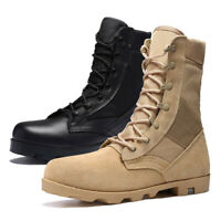2019 Mens High Top Combat Army Boots Tactical Safety Desert Military Work Shoes