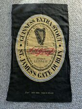 "Guinness Extra Stout St James Gate Dublin Linen Bar Mop Towel 17"" x 28"" Ireland"