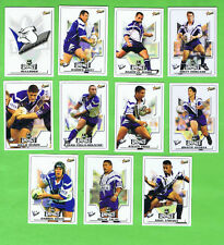 2001 CANTERBURY BULLDOGS  RUGBY LEAGUE CARDS