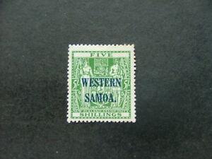 Samoa 1945 5/- green SG208 MM