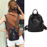 Women's Small Mini Faux Leather Backpack Rucksack Daypack Purse bag Cute