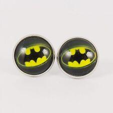 Orecchini a Perno con Logo Batman Cavaliere Oscuro pipistrello BORCHIE Dc Super Eroe Fumetto Retrò 80 S