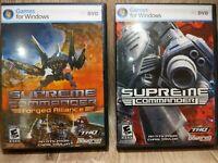 2 Games Supreme Commander & Supreme Commander: Forged Alliance Windows PC 2007
