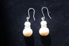 Fine Silver Pearl Drop/Dangle Fine Earrings