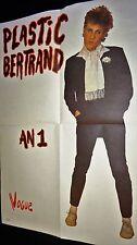 PLASTIC BERTRAND rare affiche concert promo annees 80
