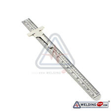 Depth Gauge Pocket Clip, Inch Metric Equivalent, Stainless Steel Muli-Use Ruler